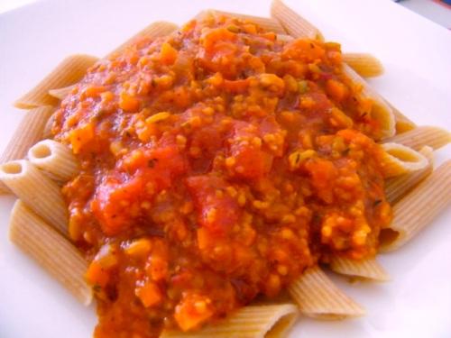 Grünkern bolognese sauce